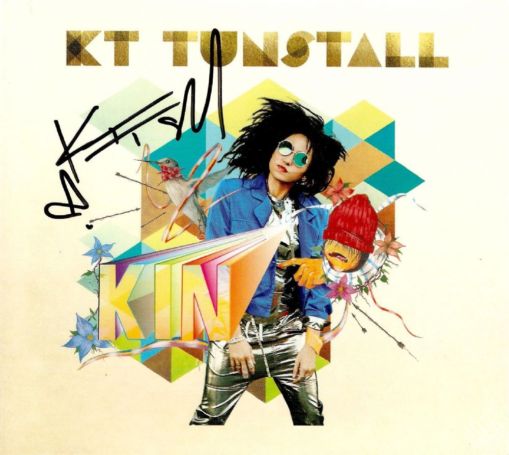 KT TUNSTALL KIN CD Album Virgin 2016 Signed